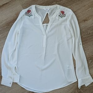 Candie's embroidered flower blouse